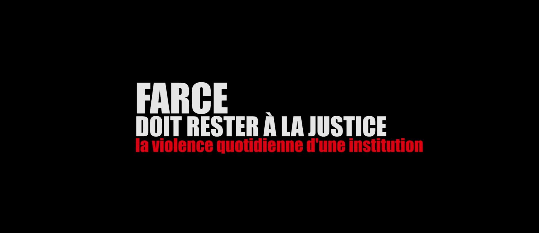 Farce doit rester la justice la violence quotidienne d for Farcical traduction